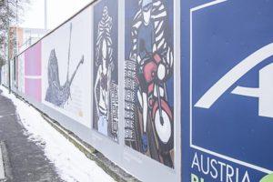Kunstmeile Wels, Freiluftgalerie, Regionale Kunst, Kunst-Werbung