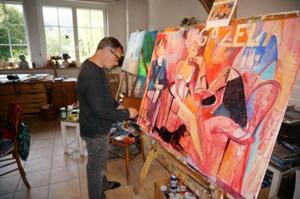 Kunstcafe-3 Helmut Bistika aus Slowakien im Kunstcafe