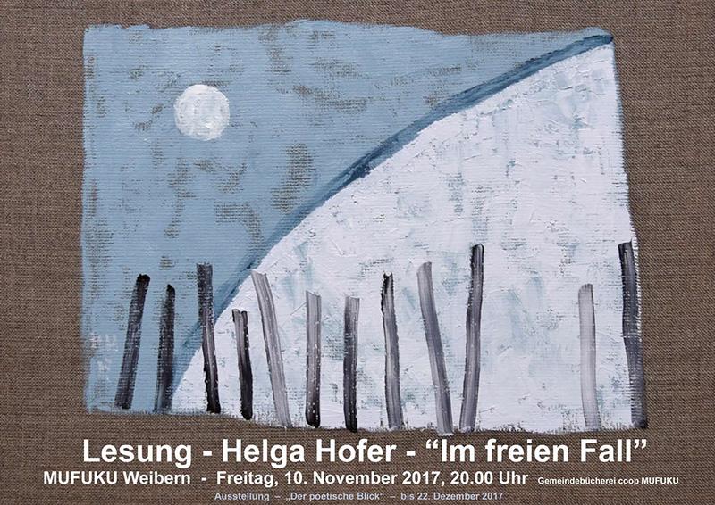 2017 Lesung Helga Hofer MUFUKU