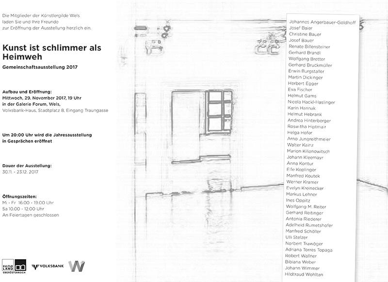 Galerie Forum Wels_Gemeinschaftsausstellung_Kunst-ist-schlimmer-als-Heimweh_Dezember_2017
