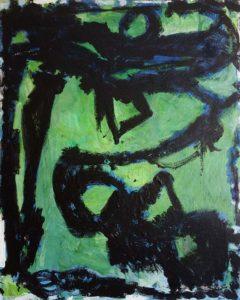 FUNDAMENTAL_Robert-Moser-Struktur-auf-Grün-Leinwand